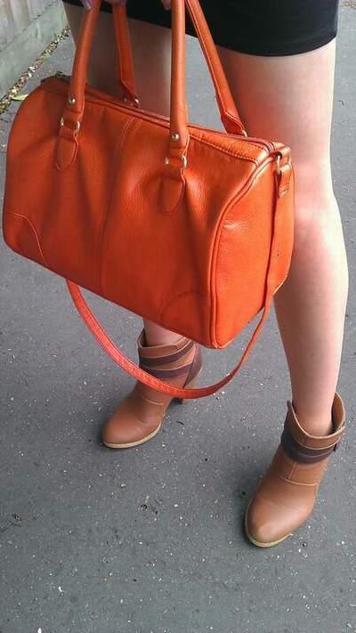 sac orange hermes
